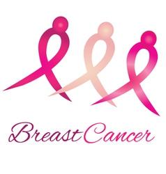 Breast cancer logo awareness ribbons vector image vector image