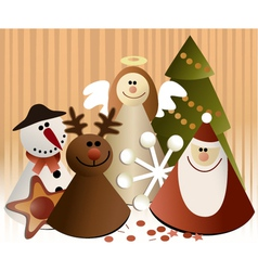 Christmas paper decorations vector image