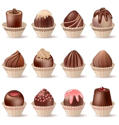 collection of different sweets vector image vector image
