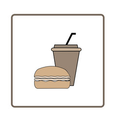 fast food and drink icon vector image