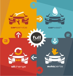 Full car service info graphic vector image