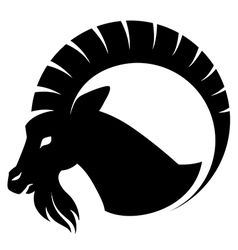 goat symbol isolated vector image vector image
