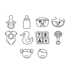 kids stuff icon set vector image