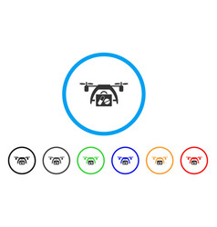 medical drone rounded icon vector image vector image