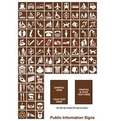 Public Information signs vector image