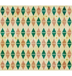 Seamless aged diamond pattern vector image