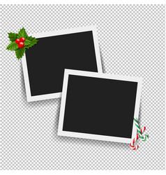 xmas photo frame vector image