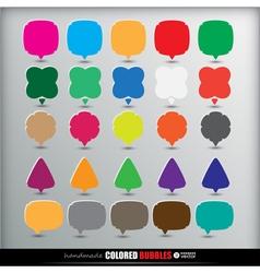 25 speech colored bubbles vector image