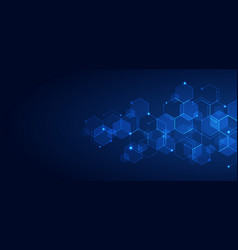 Abstract technology connect concept blue vector