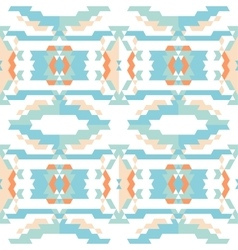 Aztec tribal seamless sky blue pattern vector