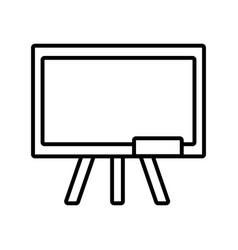 Back to school education chalkboard equipment vector