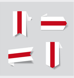 belarusian flag stickers and labels vector image