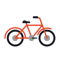 Bicycle sport vehicle isolated flat vector