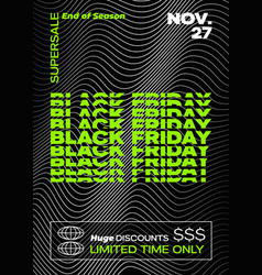 black friday typography banner poster or flayer vector image