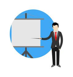 business presentation cartoon graphic symbol vector image