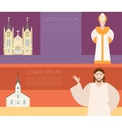Catholic Church Banner vector