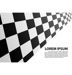 checkered perspective white blank space race vector image