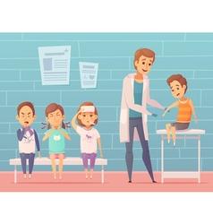 Children At Doctors vector