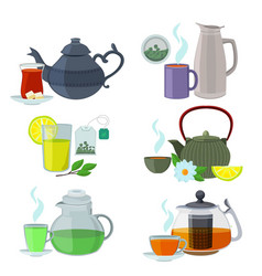 chinesse english and other different types of tea vector image