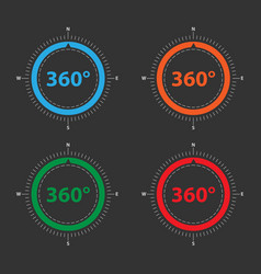 Color compass for geolocation applications vector