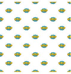 Comic boom wtf pattern seamless vector