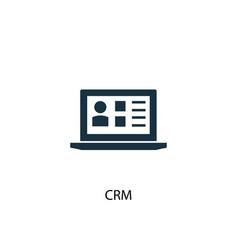 Crm icon simple element crm concept vector