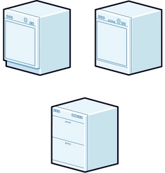 dishwashers vector image vector image