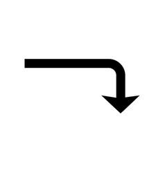 down glyph black icon vector image