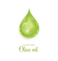Drop of all natural olive oil symbol vector