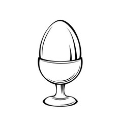Egg in holder egg-cup stand vector