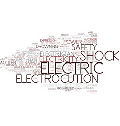 Electrocution word cloud concept vector