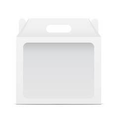 Empty window box mock up with handle - front view vector