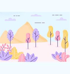 fantasy landscape autumn vector image