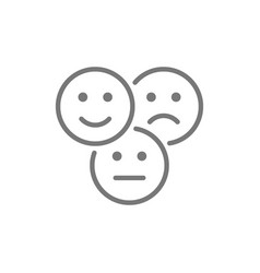 Feedback emoticons positive negative and neutral vector