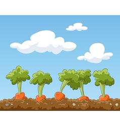 garden bed vector image