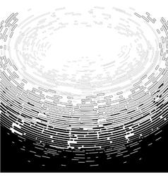 Graphic ocean underwater surface vector image