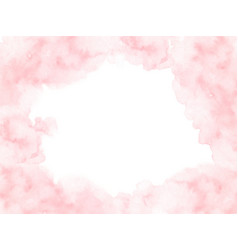 hand painted pink watercolor border texture vector image