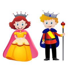 happy king and queen vector image