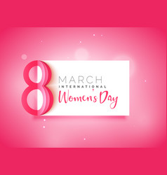 Happy womens day beautiful pink background vector