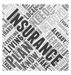 Health Insurance When Living Abroad Word Cloud vector