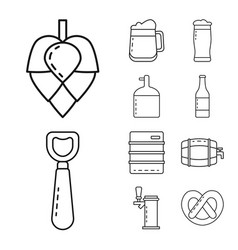 Isolated object craft and pub symbol vector
