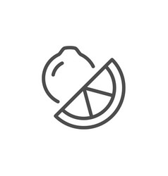 lemon line icon vector image