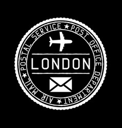 london mail stamp air mail postage service vector image