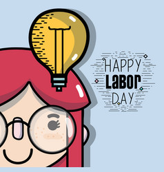 man celebrating holiday of labor day vector image