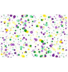 Mardi gras carnival circles confetti background vector