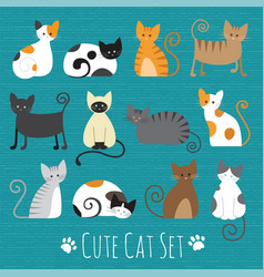 meaw set vector image