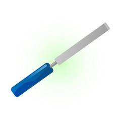 Metallic chisel vector