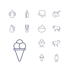 Milk icons vector