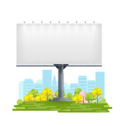 Mockup billboard on city street background vector
