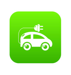 modern electric car icon green vector image